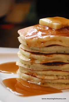 Favorite Fluffy Pancake recipe from {Meaningful Mama} http://www.meaningfulmama.com/2012/11/my-favorite-fluffy-pancake-recipe.html#