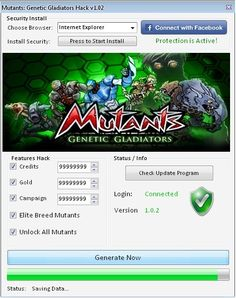 Mutants Genetic Gladiators Hack has lots of features like Unlimited Credits, Unlimited Gold, Unlimited Campaign, Elite Breed Mutants and Unlock All Mutants. Gladiator Games, Pool Hacks, Cheat Engine, The New Mutants, Kings Man, Android Hacks, Game App, Cheating, Movies Online