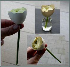 Bloemschikken Pasen met eieren easter flowers