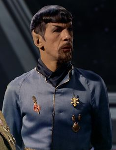 Leonard Nimoy as the Mirror Universe Spock Sci Fi Tv Series, Series Movies, Sci Fi Tv Shows, Star Trek Spock, Star Trek Tos, Star Wars, Captain Spock, Mirror Universe, Star Trek 1966