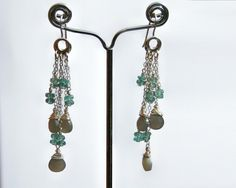 Apatite & Moonstone Earrings by my friend Karin.  Gorgeous!
