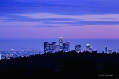 Night Lights of Downtown Los Angeles by Kay Kochenderfer