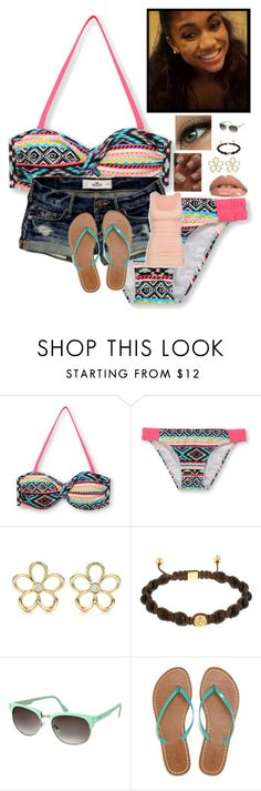 """""""fun in the sun"""" by her1dreamher1passion ❤ liked on Polyvore featuring Hollister Co., Essie, Tiffany & Co., Shamballa Jewels, ASOS, American Eagle Outfitters and The Face Shop"""