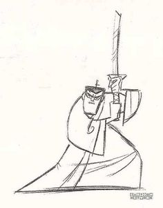 Art of Samurai Jack Samurai Jack, Samurai Warrior, Cartoon Drawings, Drawing Sketches, Sketching, Animation Programs, Gesture Drawing, Retro Futuristic, Classic Cartoons