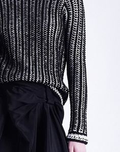 Viktor & Rolf Pre-Fall 2013 graphic herringbone knit