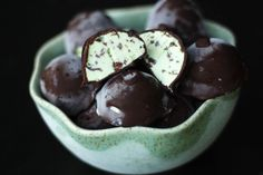 mint chocolate chip ice cream bon-bons recipe (vegetarian but not vegan friendly)