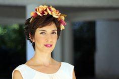 Espectacular Pilar de #ohmyblog con nuestro modelo Simoneta! #invitada #boda #tocados www.laboutiquedeluca.com