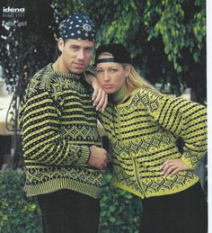 Bilderesultat for Idena 6901 Vintage Knitting, Hand Knitting, Knitting Patterns, Norwegian Knitting, Hand Knitted Sweaters, Knit Crochet, Couple Photos, Inspiration, Jumpers