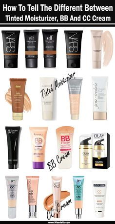 Various Between Tinted Moisturizer, BB And CC Cream Cosmetic businesses have been creating various products that appear to do the same . Best Cc Cream Drugstore, Best Drugstore Tinted Moisturizer, Best Drugstore Makeup, Moisturizer For Oily Skin, Homemade Moisturizer, Natural Moisturizer, Best Makeup Products, Skin Products, Beauty Products