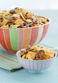 Original Ranch Snack Mix Recipe | Hidden Valley® Ranch Snack Mix Recipe, Ranch Recipe, Snack Mix Recipes, Dog Food Recipes, Cooking Recipes, Snack Mixes, Yummy Recipes, Kid Recipes, Potato Recipes