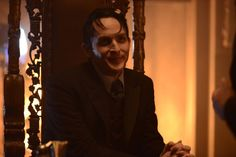 Pin for Later: Gotham: Season 2 Premiere Photos Show Off the New Villains and the Batcave Robin Lord Taylor returns as Oswald Cobblepot, aka Penguin.