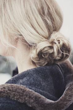 Blond bun