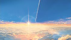 Can we all just stop for one moment and appreciate the beautiful art style of Kimi no na wa Your Name Wallpaper, Anime Wallpaper Live, Anime Scenery Wallpaper, Anime Gifs, Anime Art, Aesthetic Gif, Aesthetic Wallpapers, Couple Manga, Casa Anime