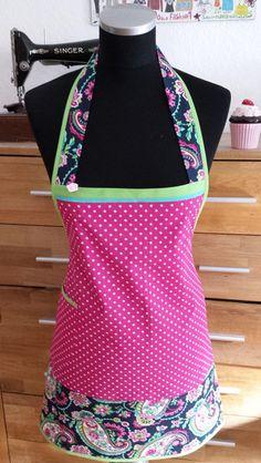"""Schürzen - """"Zauberhaft  in pink !"""" - Kochschürze - ein Designerstück von XBergDesign bei DaWanda"""