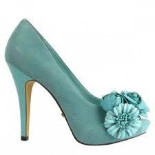 zapatillas para novia en color azul turquesa - Buscar con Google