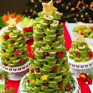 Ham & tortilla roll-ups holiday tree.