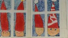 Tontut ikkunassa Christmas Art Projects, Christmas Arts And Crafts, Winter Art Projects, Winter Crafts For Kids, Noel Christmas, Xmas Crafts, Winter Christmas, Art For Kids, Christmas Decorations