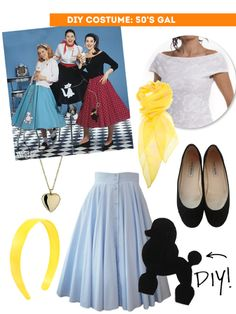 DIY Thift Shop Halloween Costumes - 50's girl / The Sweet Escape                                                                                                                                                                                 More