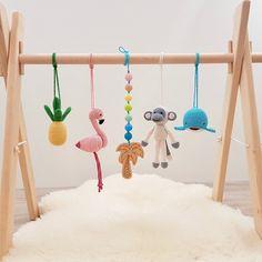 Hand Crochet, Crochet Toys, Wood Baby Gym, Rainbow Crochet, Play Gym, Baby Supplies, Bitty Baby, Baby Play, Rainbow Colors