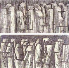 David Bomberg - charcoal & chalk