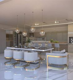 45 Adorable Kitchen Design Ideas Luxury Kitchens Adorable Design Ideas Kitchen in 2019 Kitchen Room Design, Luxury Kitchen Design, Luxury Kitchens, Home Decor Kitchen, Dining Room Design, Interior Design Kitchen, Kitchen Dinning, Luxury Interior Design, Luxury Dining Room
