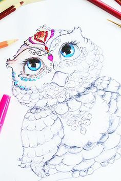 Free Printable Owl By Hatti Fant - 15 Fabulous Free Printable Colouring Page Round - Up!