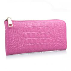 Fashion PU Crocodile Stripe Long Type Wallet Women's Purse