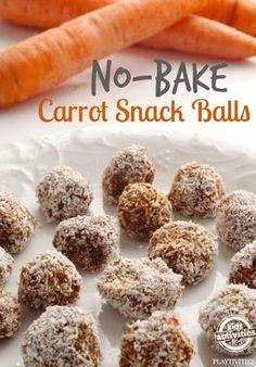 No-Bake Carrot Balls: Wait, are those donut holes? No, they're No-Bake Carrot Balls. They're better for you. Sneaky, eh?
