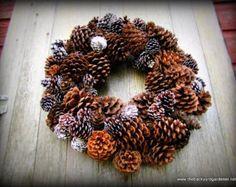 Winter Pine Cone Wreath - Pinecone Wreath - Winter Wreath - Christmas Wreath - Rustic Winter Wreath - Outdoor Wreath - Indoor Wreath