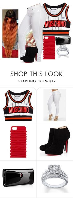 """""""Swag It Out"""" by qeens ❤ liked on Polyvore featuring Moschino and Christian Louboutin"""