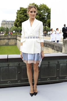 Jacket, belt, skirt and shoes by Christian Dior Satin pumps