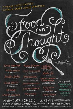 Food for Thought / Mucca #design #lettering #chalk
