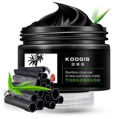 KOOGIS Bamboo Charcoal Tearing Facial Nose Blackhead Removal Deep... ($10) ❤ liked on Polyvore featuring beauty products, skincare, face care, deep cleansing mask and cleansing mask