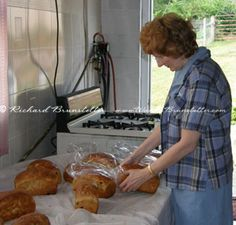 Wanda E. Brunstetter, author, bagging bread in Amish kitchen. 9 Recipes on this page.
