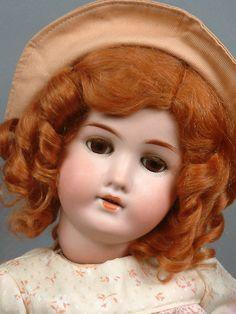 """*Sweet* 22"""" Wonderful GOEBEL B4 Antique Doll is So Pretty! in FABULOUS DRESS! - Perfect in Peach!"""
