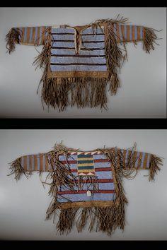 Crow Child`s Shirt, date unknown. Native American Shirts, American Crow, Native American Decor, American Indian Art, Native American Beading, Native American Tribes, Native American History, Native Americans, American War