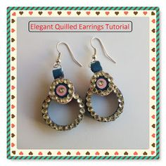 Here I am with my very first tutorial on making paper quilled earrings. Till now I have posted the pics of DIY crafts, je. Paper Magic, Earring Tutorial, How To Make Paper, Diy Crafts, Drop Earrings, Elegant, Jewelry, Classy, Jewels