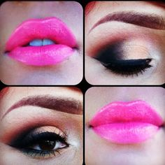 Smokey eye & pink lips. xo