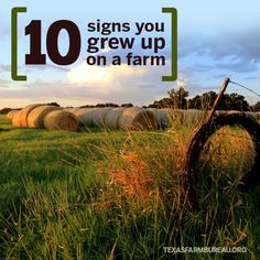 Life on the rural route. Julie Tomascik shares 10 signs you grew up on a farm.