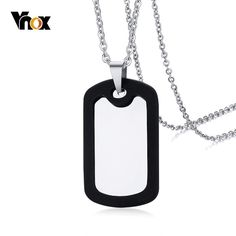 Silicone Frame Rectangle Dag Tag For Men Women Pendant Stainless Steel Necklace Classic Tough Man Jewelry Big Men Fashion, Trendy Fashion, Style Fashion, Rock Fashion, Fashion Details, Fashion Ideas, Fashion Inspiration, Fashion Trends, Jewelry Rings