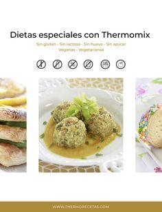 Consigue nuestro eBook de recetas especiales con Thermomix. 32 recetas únicas para los que tienen celiaquía, diabetes, intolerancia a la lactosa, etc. Pasta Al Curry, Baked Potato, Mashed Potatoes, Baking, Ethnic Recipes, Diabetes, Food, Quinoa Burgers, Empanada Dough