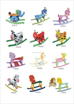 Rocking Horse Paint Designs