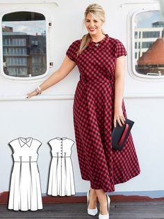 This ladylike style is reminiscent of a '50s tea dress – with a cool makeover…