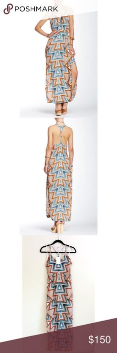 FREE PEOPLE Maxi Dress Scoop neck, Racerback, Sleeveless, Partially lined & Slits Sides Material: 60% Viscose, 40% Rayon TRADING PAYPAL Free People Dresses Maxi