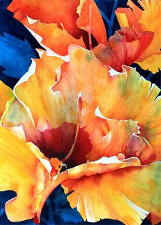 HULA GIRL is an original watercolor painted by Karin Novak-Neal. The artist takes many photographs of tropical flowers and trees while residing on the Big Island of Hawaii. All of her paintings are her personal depictions of her own photographs. The HULA GIRL hibiscus is a common