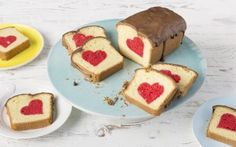Hidden Heart Cake Recipe for Valentines day. #valentines #cake