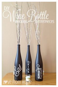 Beyond the Cork: DIY Wine Bottle Wedding Centerpieces
