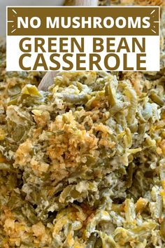 Simple Green Bean Casserole Recipe, Cheesy Green Bean Casserole, Chicken Broccoli Casserole, Best Dinner Recipes, Family Recipes, Creamed Mushrooms, Stuffed Mushrooms, Canned Beans Recipe, The Best Green Beans