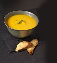 Butternut Squash Soup with Gruyere Toasts