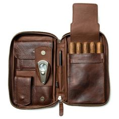 Cigar Cases & Accessoires - Peter James Leather Co. Good Cigars, Cigars And Whiskey, Cigar Travel Case, Leather Cigar Case, Cigars And Women, Cigar Accessories, Camera Accessories, Leather Accessories, Cigar Cases